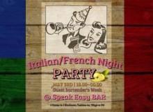 Italian-French Party at Bar SPEAK EASY